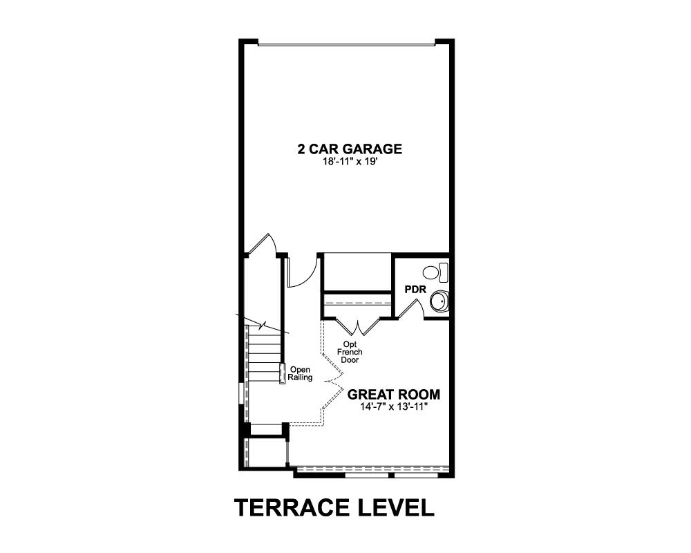 Main floor plan for Terrace Level