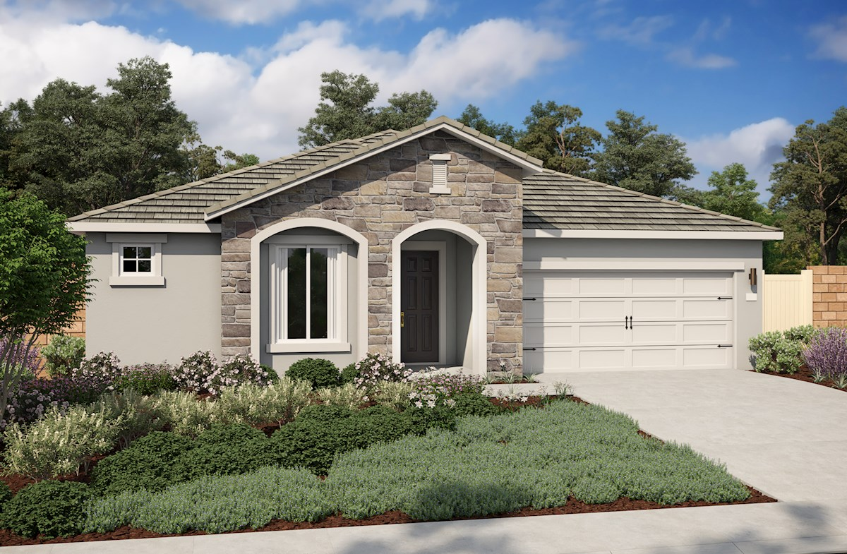 single-family home with 2-car garage