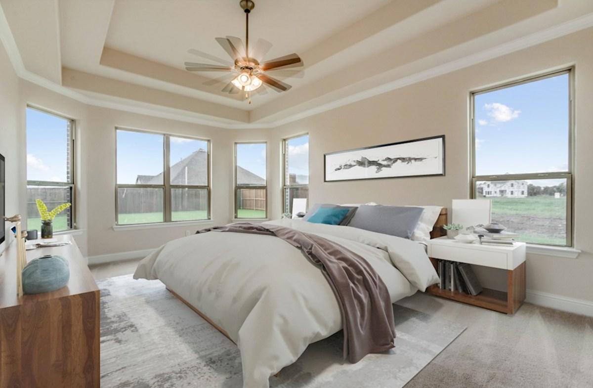 Stoney Creek Degrey Degrey master bedroom with large windows