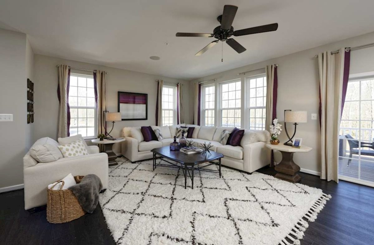 The Preserve at Windlass Run Townhomes  Vienna Large windows in the Vienna Great Room