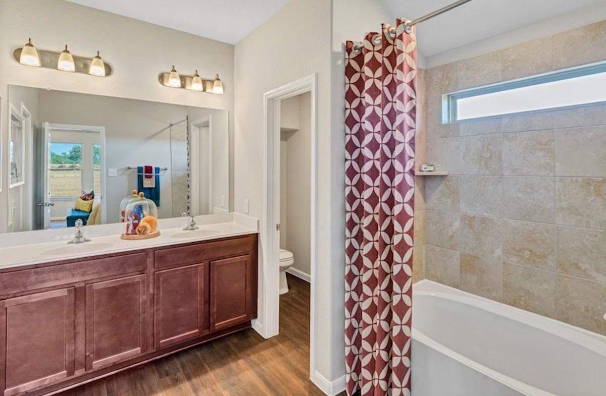 Lantana Austin master bathroom with double sinks