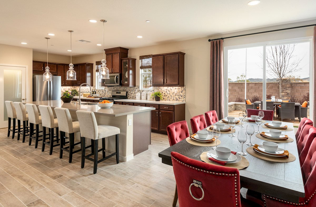 open-concept kitchen and dining room