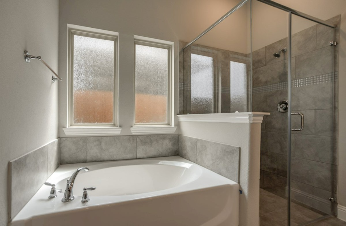 Mercer Crossing Windermere Jefferson Jefferson master bathroom with separate tub and shower