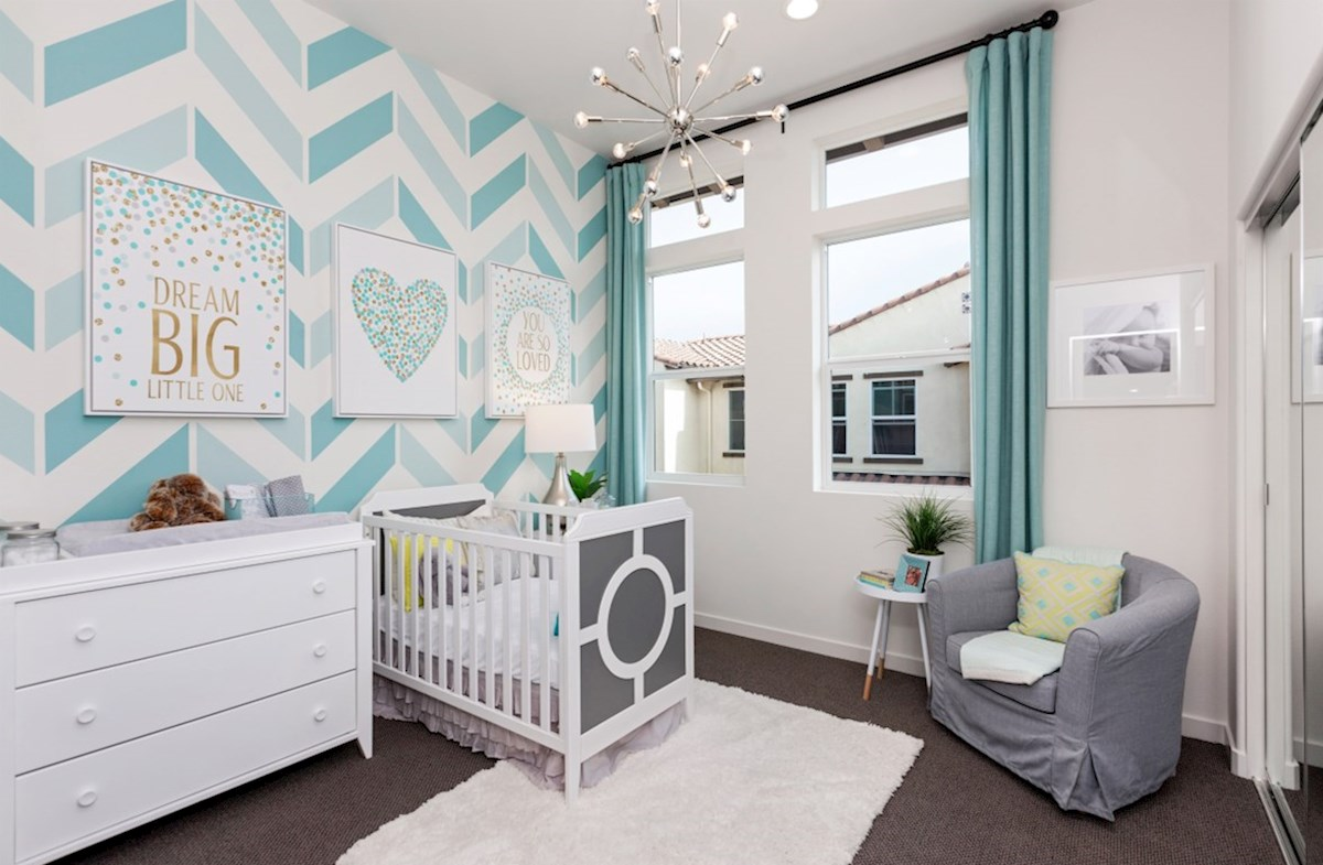 Orchid quick move-in blue cozy nursery room