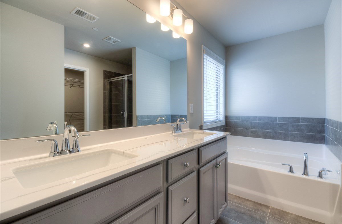 Spring Creek Place Georgetown Master Bathroom with dual sinks
