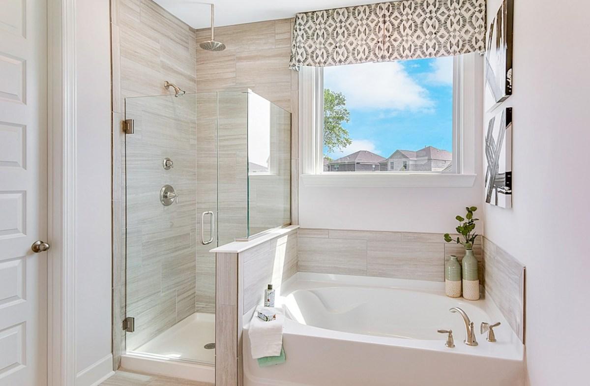 Magnolia Farms Landon spa-inspired master bath