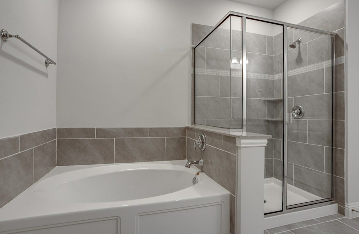Dorset quick move-in master bath with separate tub and shower