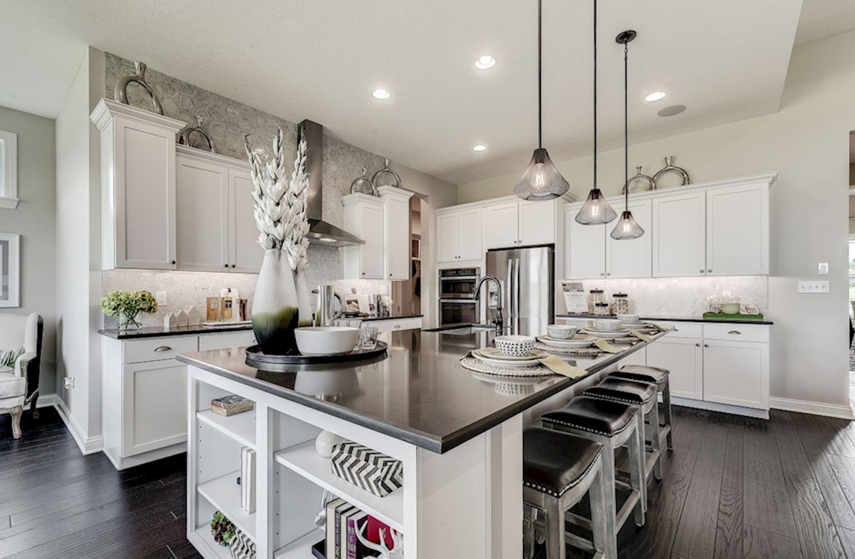 Hampshire Meridian Collection Delaware kitchen with large island and white cabinets