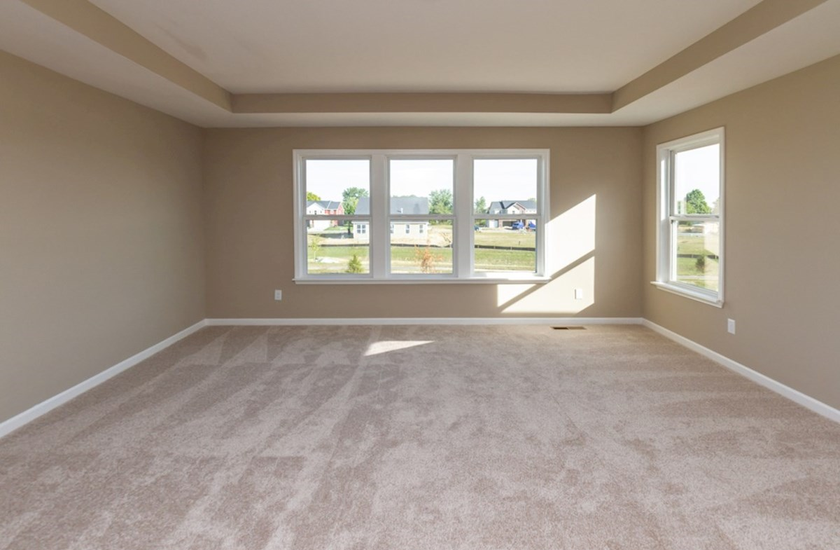 Shelby quick move-in Spacious master bedroom with trey ceiling