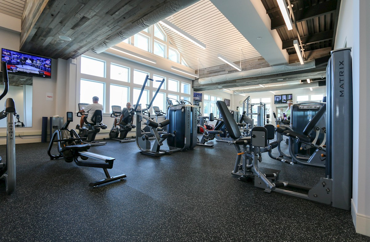Exercise room in the Health & Aquatics Center