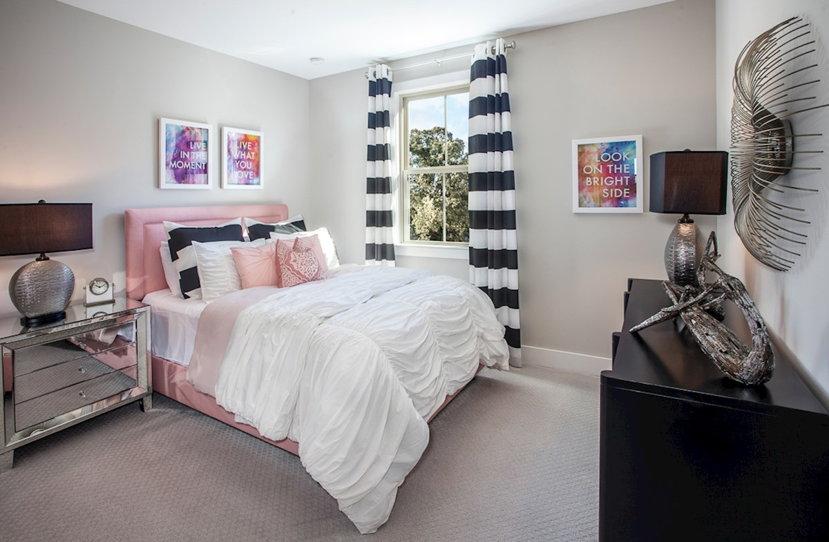 Towns at North Peachtree Camden naturally lit secondary bedrooms