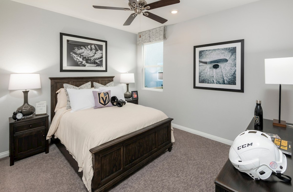 Colton Ranch Summit generous secondary bedroom in Summit model