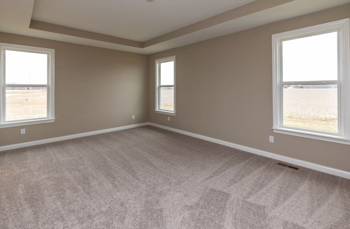 Capitol quick move-in master bedroom  with trey ceiling