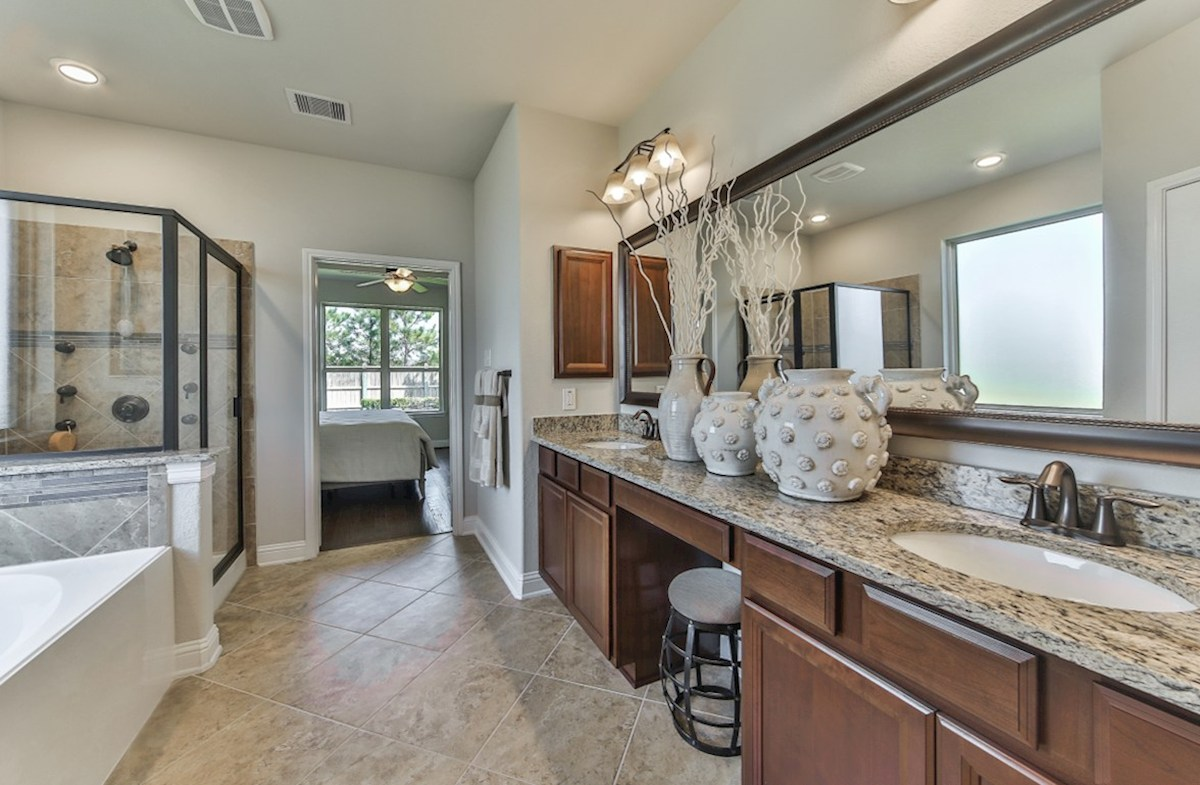 Armstrong quick move-in master bathroom with vanity