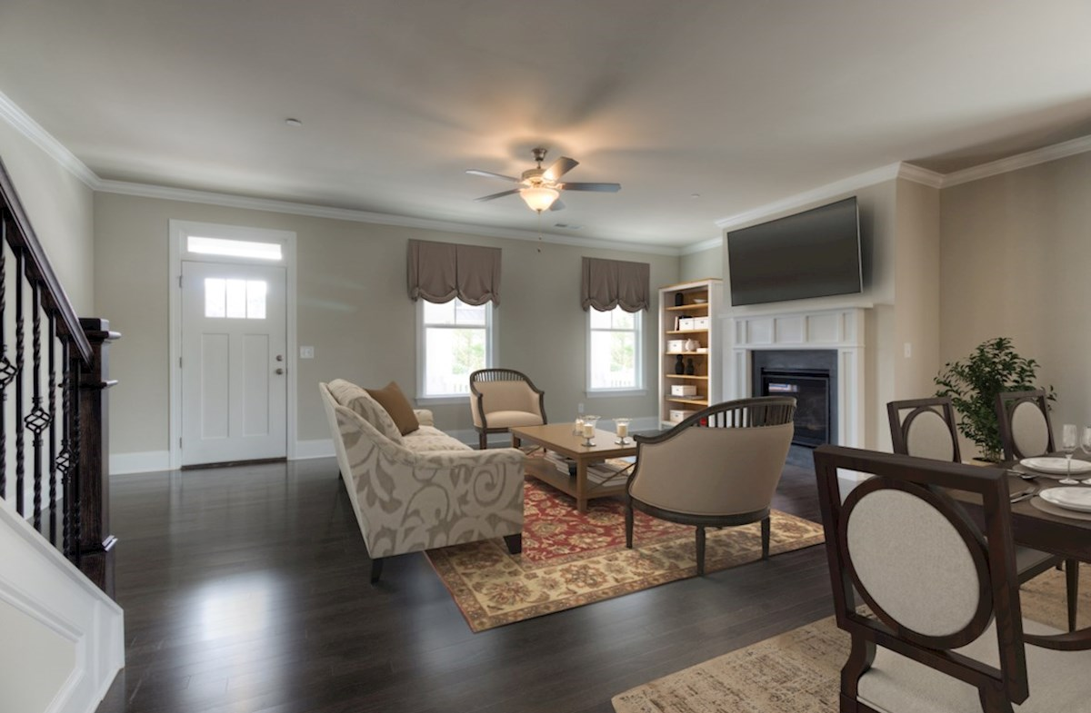 Highland Park Norwich Family Room with fireplace