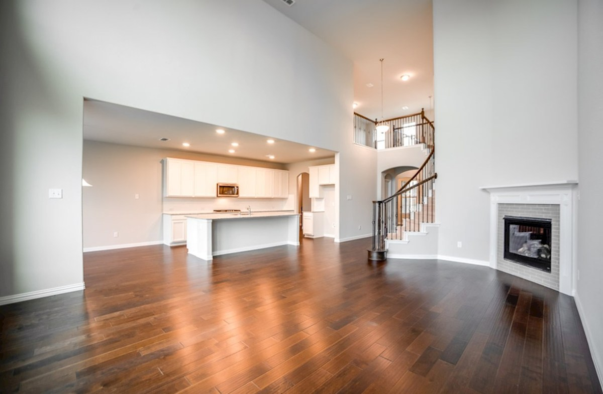 Madison quick move-in open great room with soaring ceilings