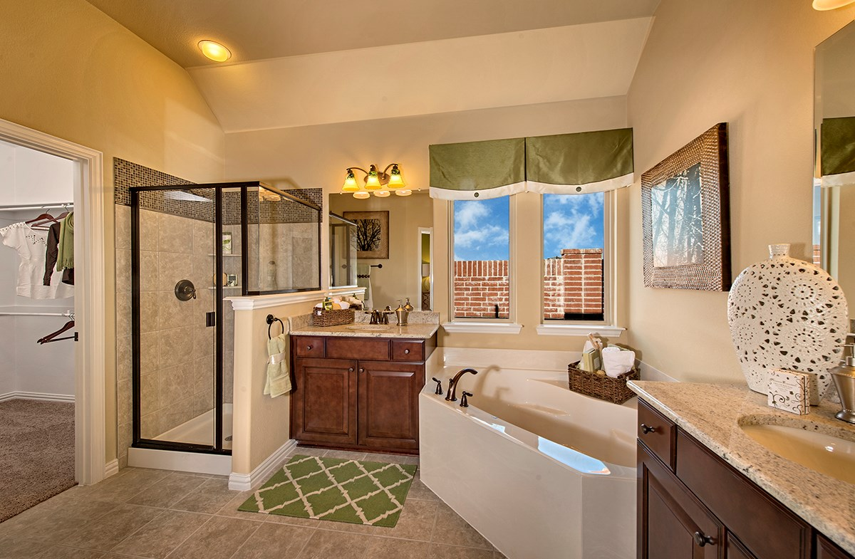 The Grove at Craig Ranch Silverado master bathroom spacious soaking tub