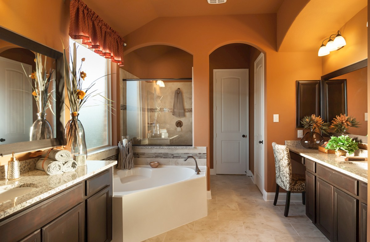 Wildwood at Oakcrest Fredericksburg peaceful master bathroom