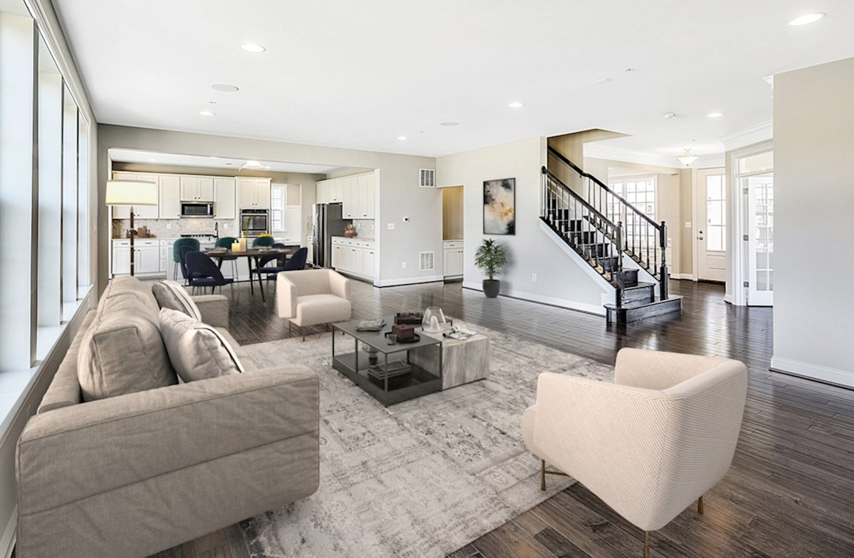 Enclave at River Hill Kingston Kingston great room featuring hardwood flooring