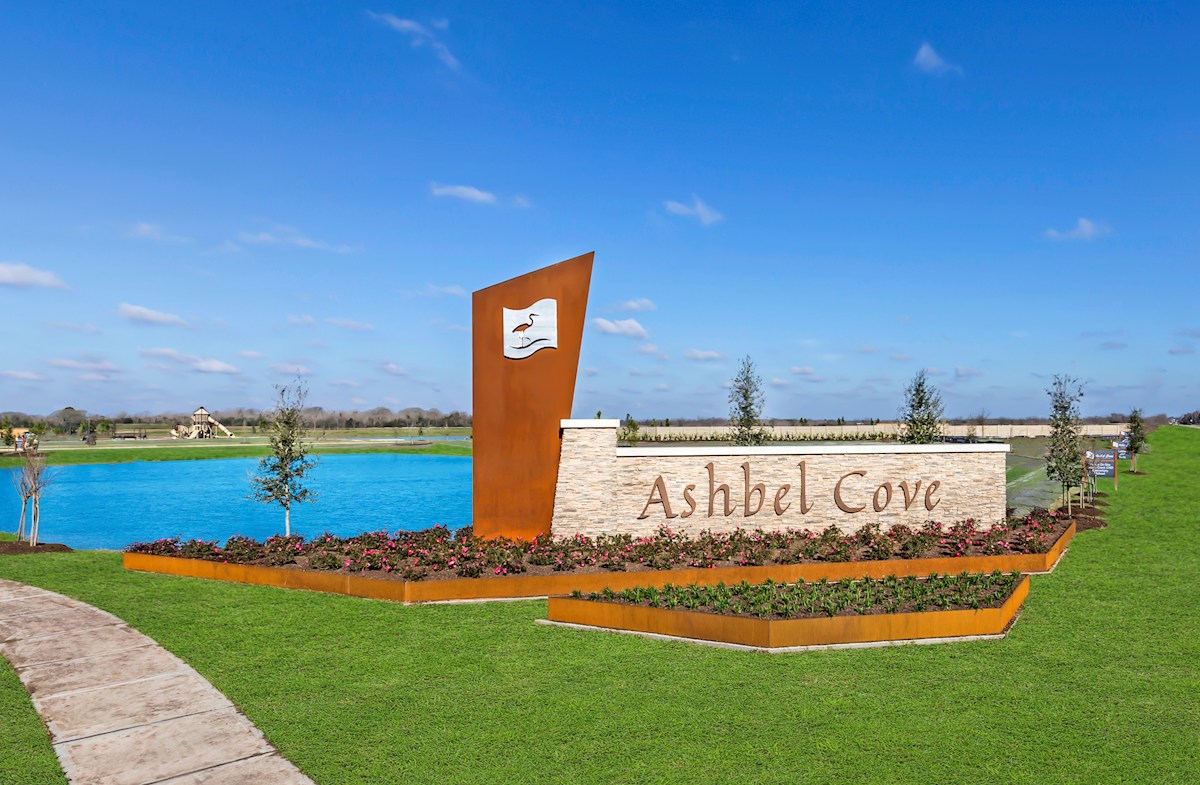 Ashbel Cove entry monument