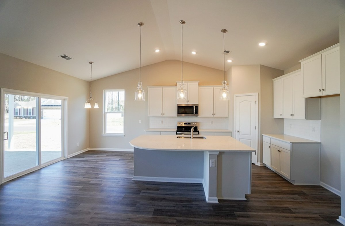 Southport quick move-in kitchen features expansive counterspace