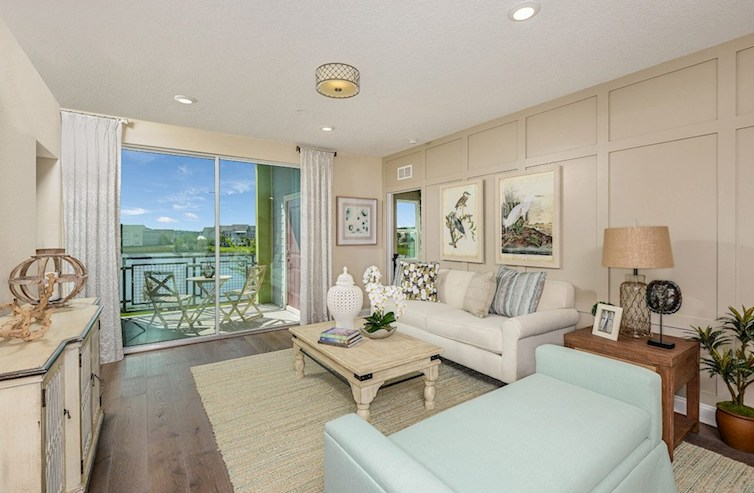 Gatherings® of Lake Nona Chestnut light-filled great room