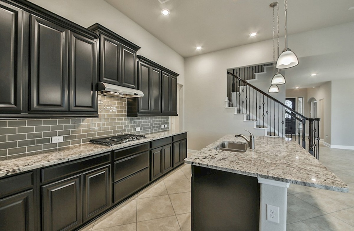 Galveston quick move-in kitchen with buil-in range and granite countertops