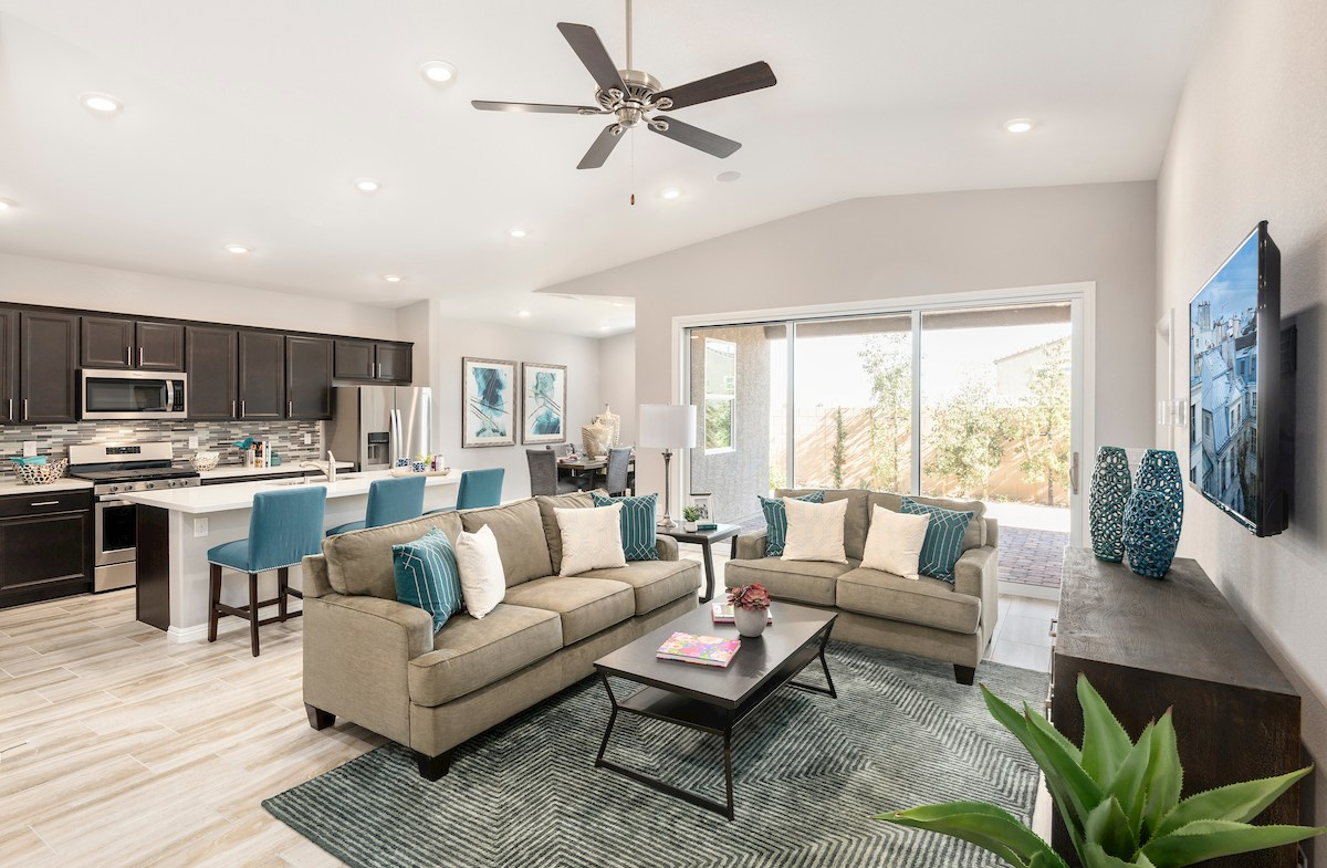 open concept great room in the Summit model