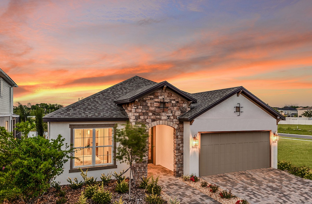 Sea Breeze model home with stone accents