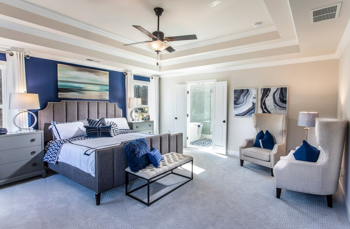 Vinings Summit Brentwood Brentwood master bedroom with ceiling fan