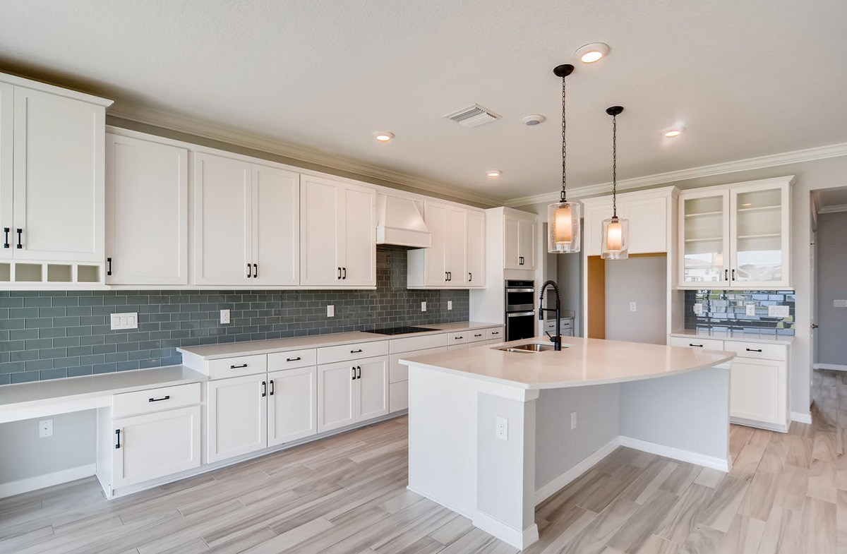 """Sequoia quick move-in Open kitchen with 42"""" white cabinets"""