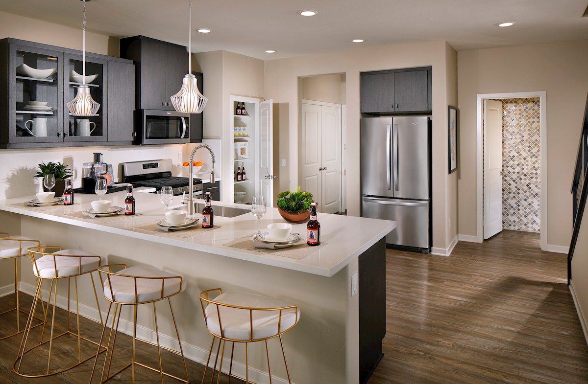 Gourmet kitchen with oversized island