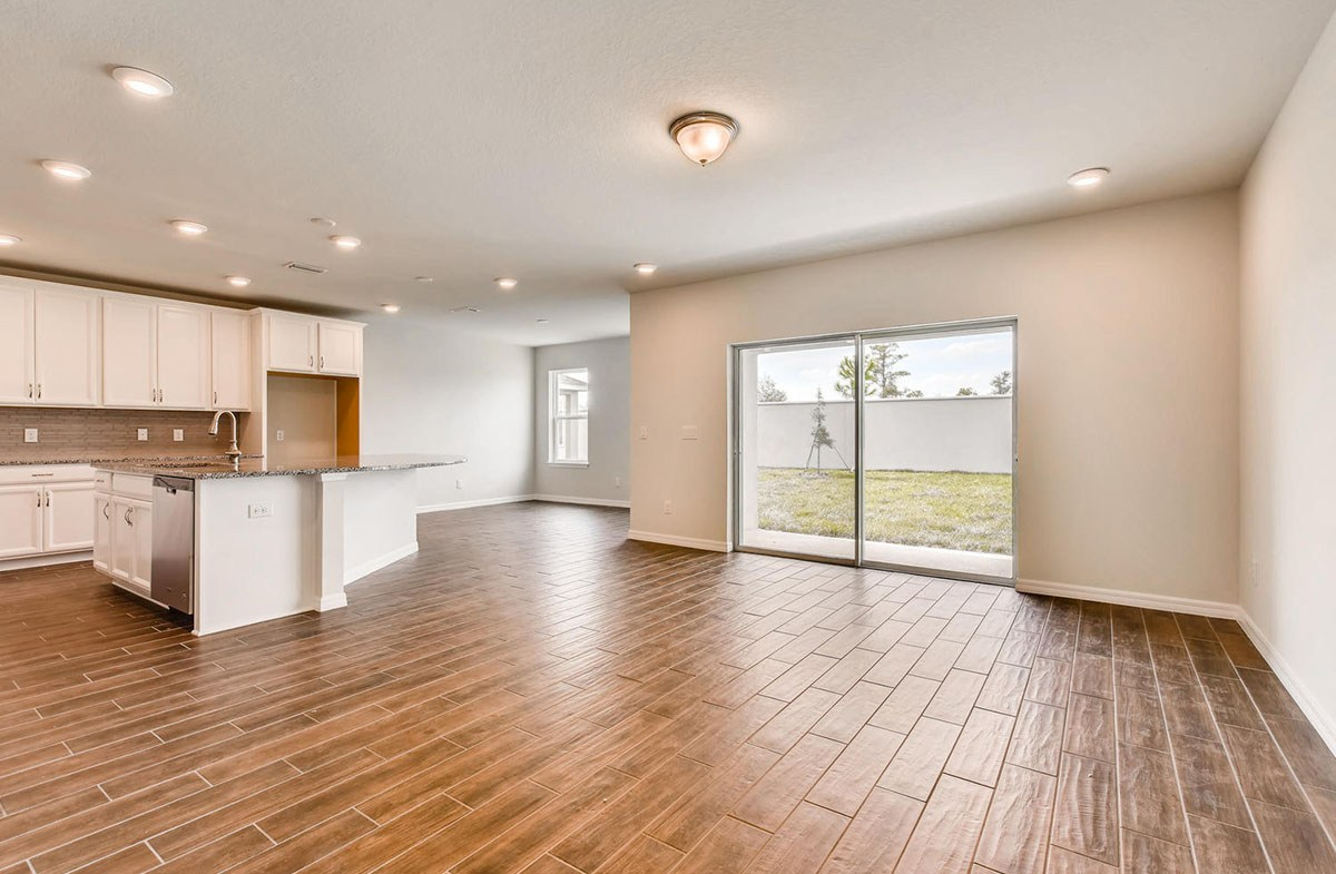Cypress Pointe quick move-in Open concept first floor with wood-look tile
