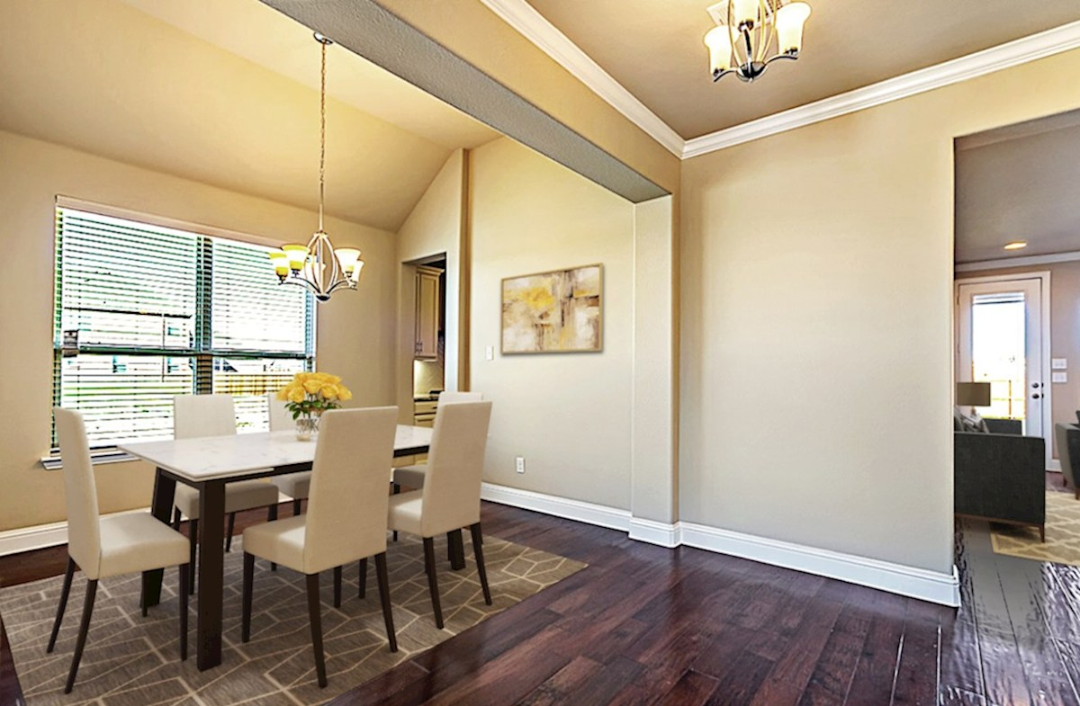 Stoney Creek Belmeade Belmeade dining room with large windows and natural light