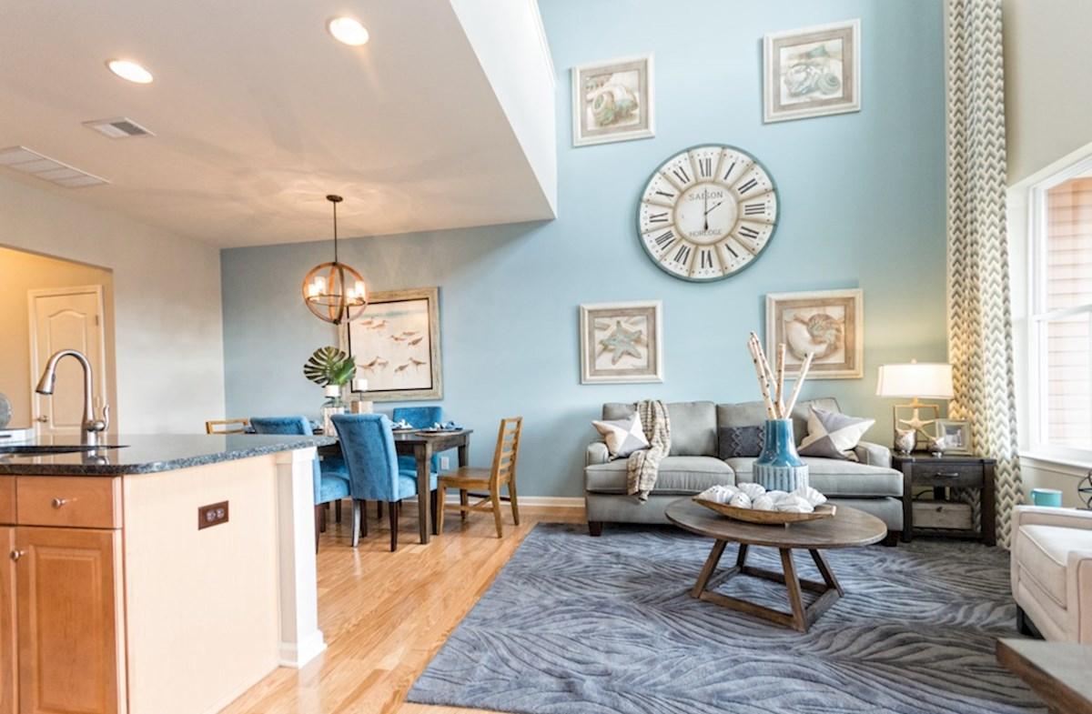 Heron's Ridge at Bayside Bethany Bethany two-story Family Room and Dining area