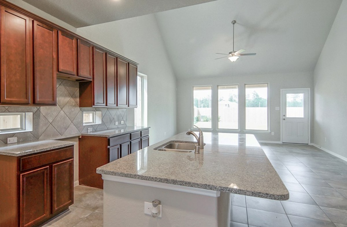 Franklin quick move-in open-concept kitchen with spacious countertops