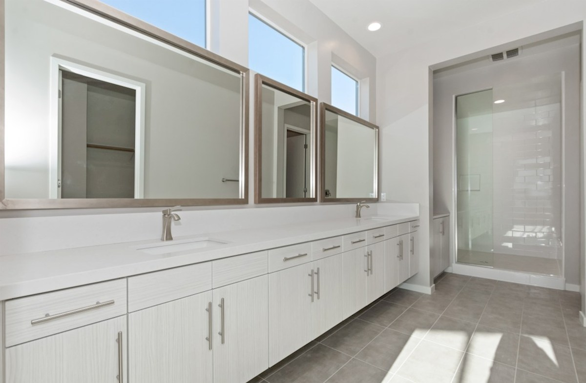 Residence 3 quick move-in Separate vanities give you more space and privacy