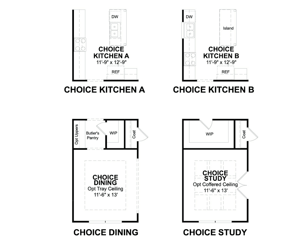 Choice options for First Floor