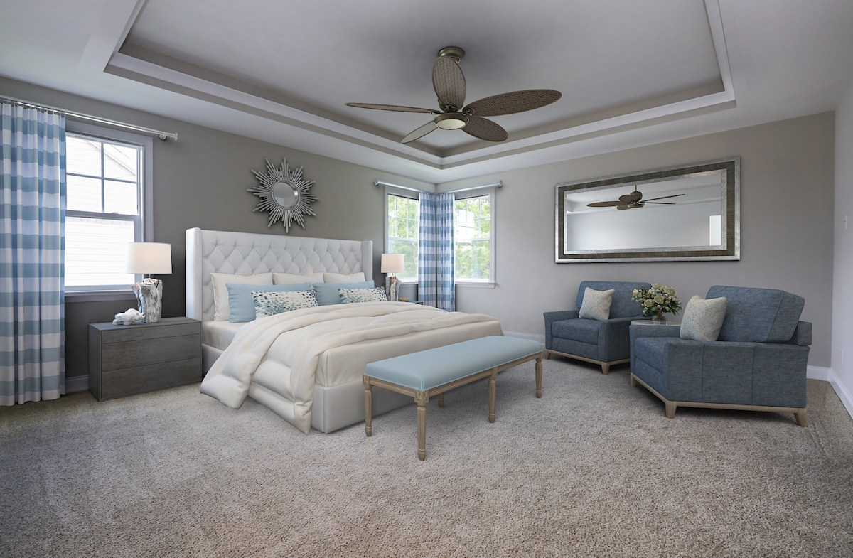 Willowsford Daventry expansive master bedroom