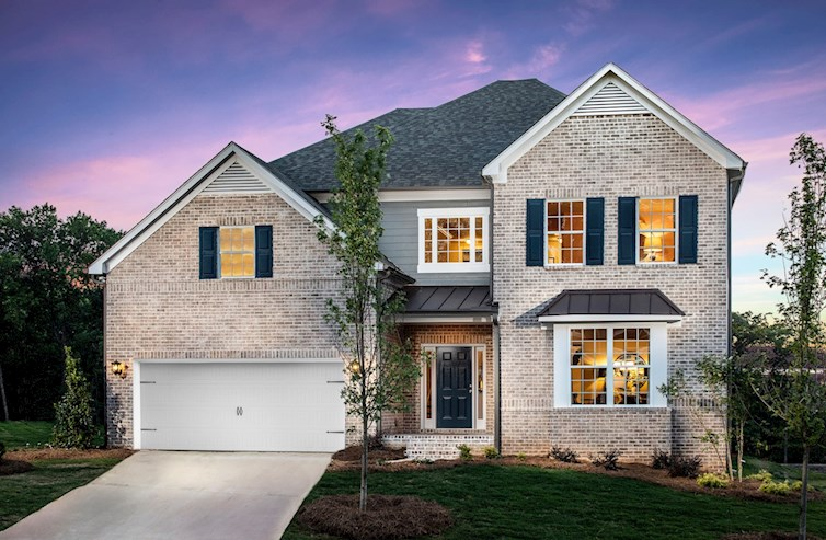 Brick-front home with 2-car garage