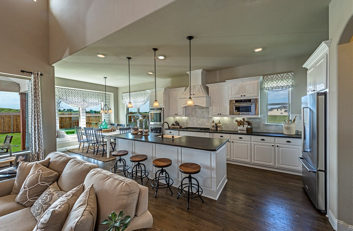 Summerfield kitchen opens to great room