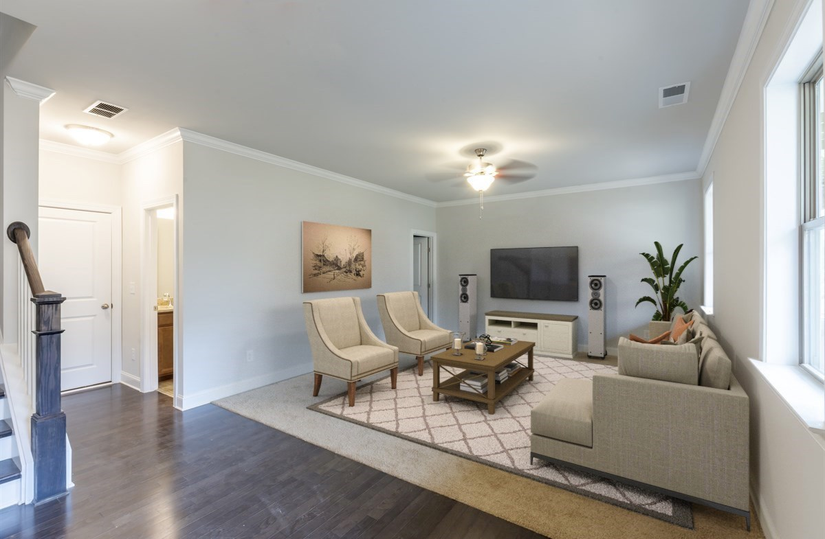 White Oak at East Lake Juniper Terrace Level Bonus Room with carpet