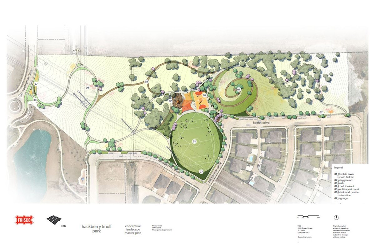 nearby hackberry knoll park rendering