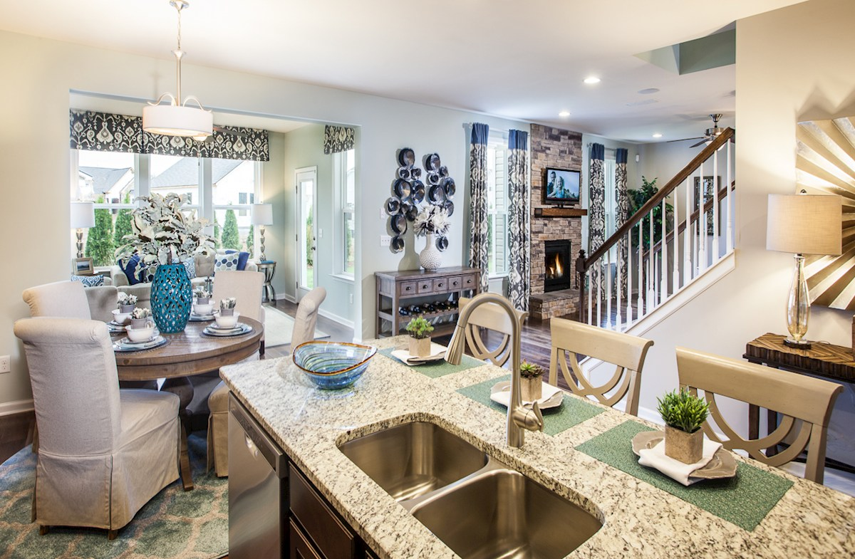 Tuscan Gardens Ashford open concept great room and kitchen