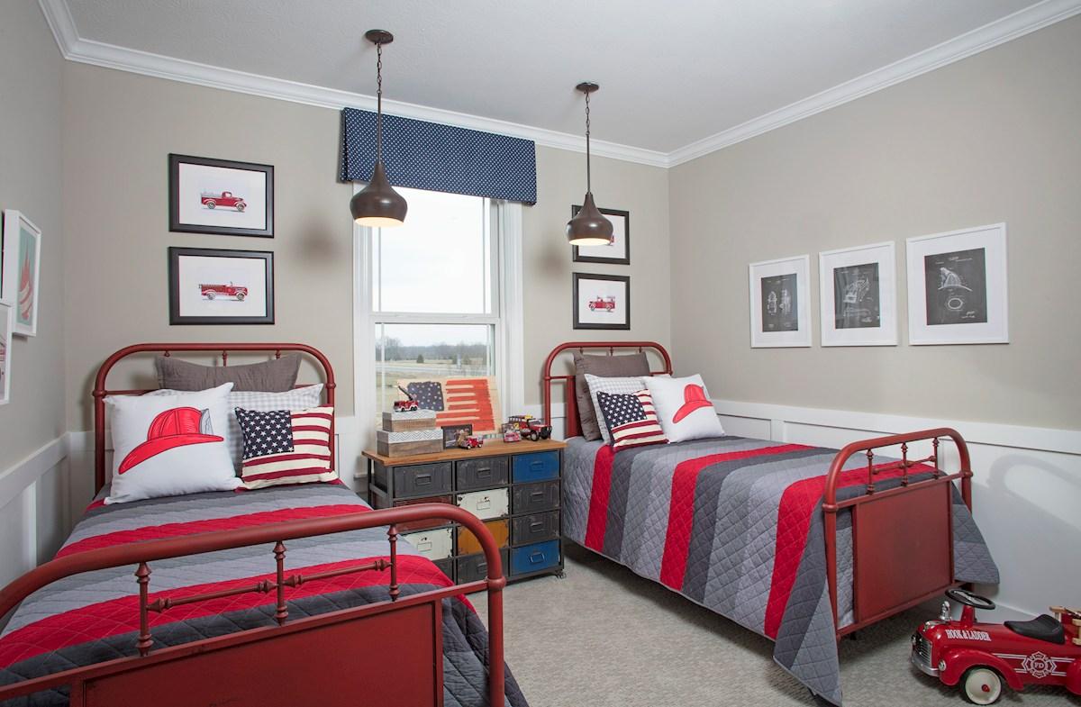 Spacious guest bedroom in the Tarkington