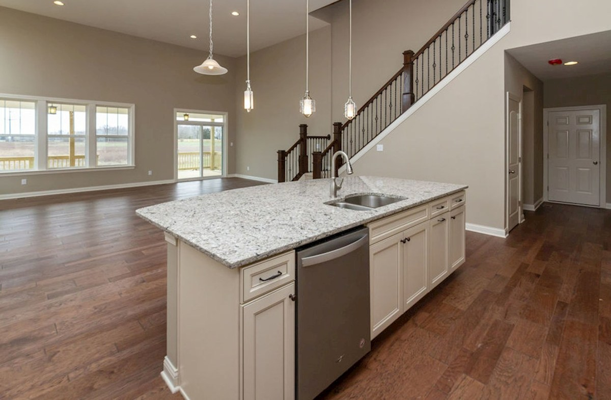 Kessler quick move-in Open kitchen and two-story great room