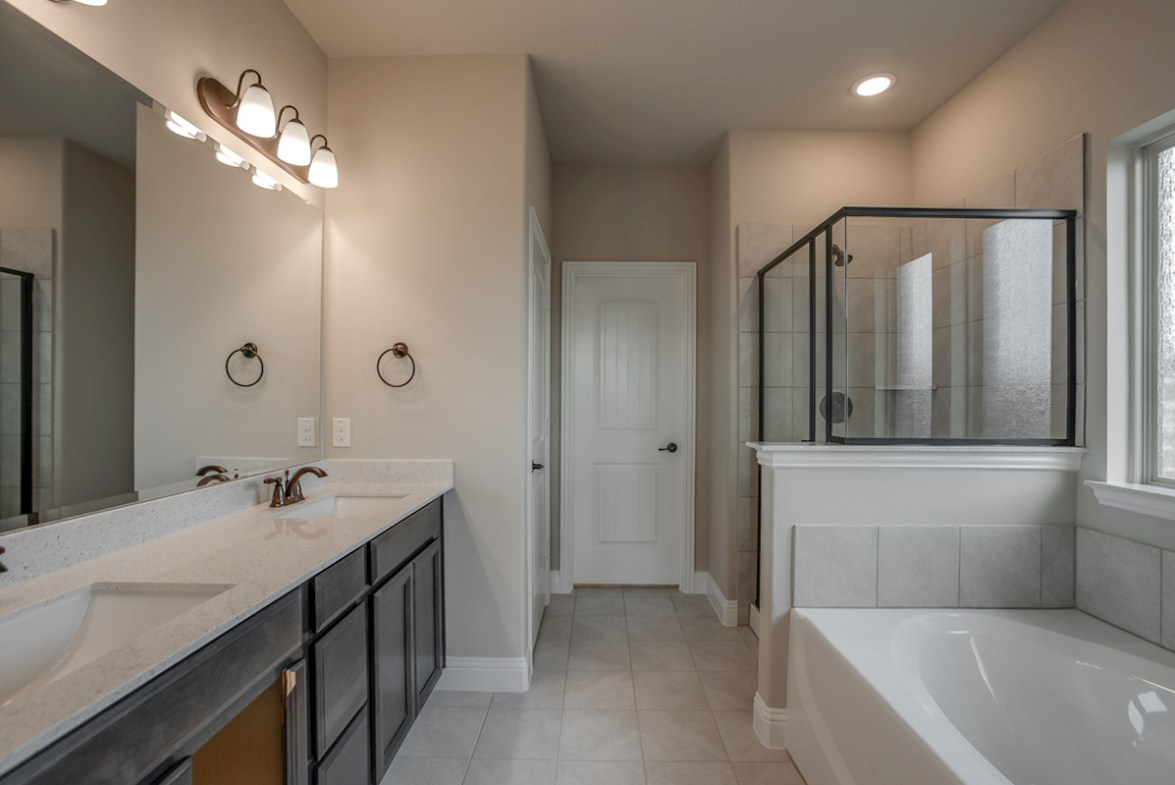 Avalon quick move-in Avalon master bathroom with double vanities