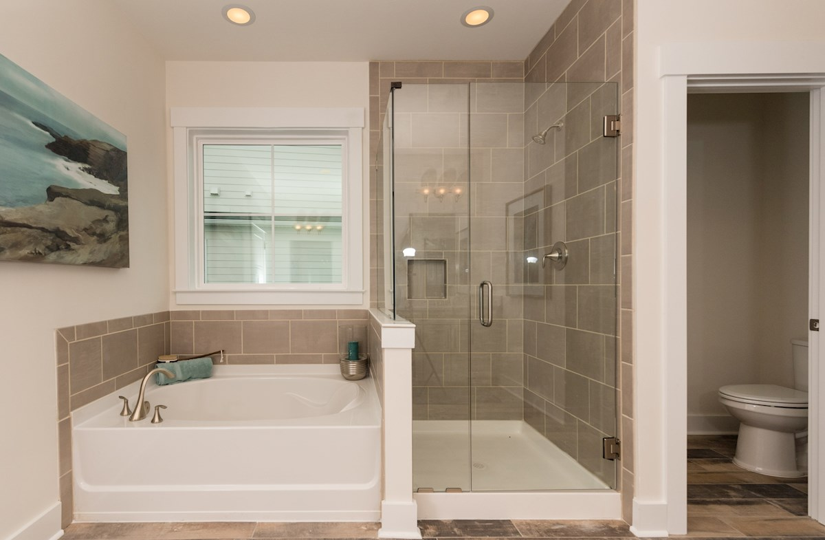 relaxing master bathroom