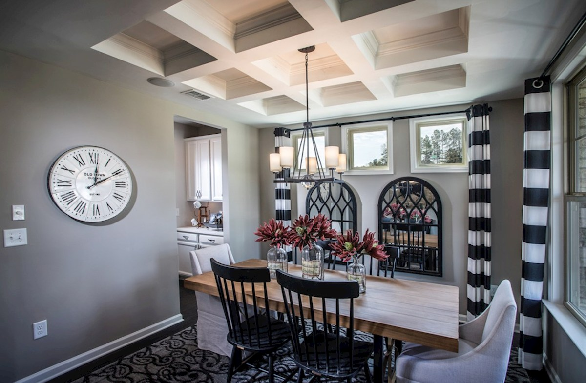 Bethesda Heights Laurel Dining Room with coffered ceiling