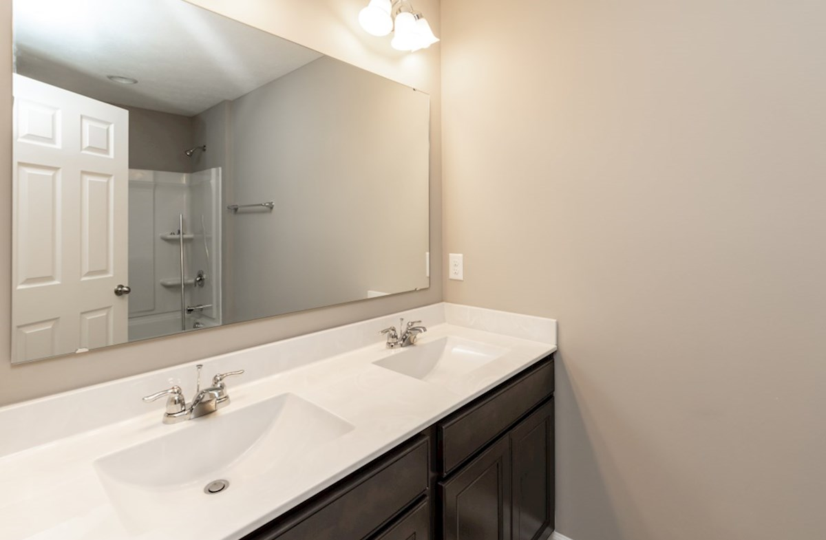 Shelby quick move-in guest bath with dual sinks